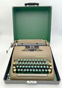 Smith Corona Sterling Manual Typewriter With Case Vintage Tested Works 21-889