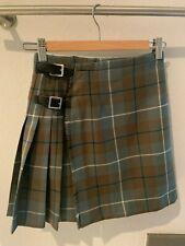 Authentic Woman Scottish Tartan Kilt Geoffrey Tailor 100% Wool Size 0
