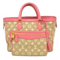 Louis Vuitton Cabas MM M93496 Monogram Sabbia Canvas Tote Hand Bag Gray Pink LV