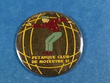 pins pin sport boule petanque club moyeuvre