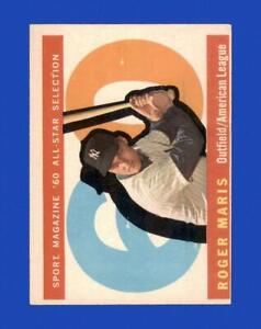 1960 Topps Set Break #565 Roger Maris AS VG-VGEX (crease) *GMCARDS*
