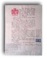 Decreto nomina commendatore ordine santa maria di betlemme ezelindo causo 1945