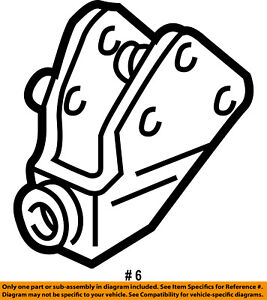 FORD OEM Front Suspension-Radius Arm Bracket Left 4C2Z3B095BA