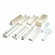 Sushi Making Kit - Easy to Use 10 Piece Sushi Roll Maker Rice Fork and Spatula