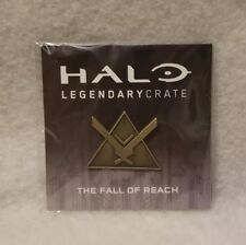 Halo Legendary Loot Crate Collectible The Fall of Reach Pin Rare Gold Variant