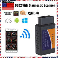 OBD2 OBDII ELM327 WiFi Car Diagnostic Scanner Code Reader Tool for iOS&Android