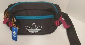 NEW Adidas Originals Utility Crossbody Bag Fanny Pack Black/Teal/Berry CL5460