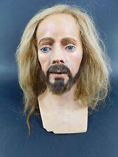 Vintage Antique Wax Head Gems London Human Hair Jesus Mannequin Bust Sculpture 5