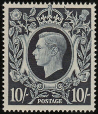 1939 ARMS SG478 10s DARK BLUE VERY FINE UNMOUNTED MINT