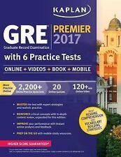 Kaplan Test Prep: GRE Premier 2017 with 6 Practice Tests : Online + Videos +...