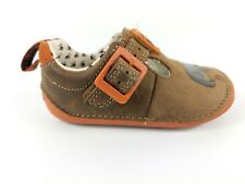 Clarks First Shoes Baby Brown Leather Shoes Uk 3.5 G