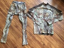 Mens Under Armour Coldgear Compression Realtree AP Camo Large Shirt & Med Pants