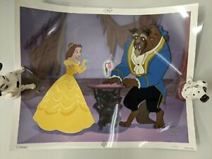 Disney Beauty and the Beast Reflection of Love Limited Edition 1999 Sericel Cel