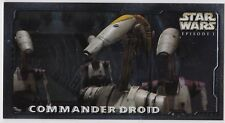 STAR WARS TOPPS EPISODE 1 SERIES 2 WIDEVISION RETAIL EMBOSSED FOIL E1 CMDR DROID