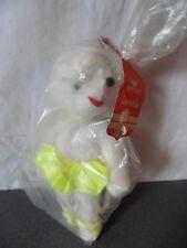 vintage Ancienne peluche souris blanche neuve dans son emballage 22 cm