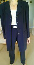 Eugen Klien ladies navy vintage suit with tapered trouser & long jacket size 14