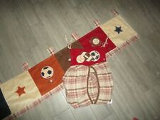 Nojo Sports Mvp Brown Plaid Football Soccer Glove (2Pc) Diaper Bag & Valance Set