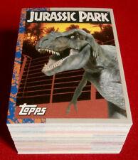 JURASSIC PARK - Complete Base Set (88 Cards) - TOPPS 1993
