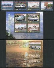 Papua Neuguinea 2013 Transport Schiffe Flugzeuge Autos 1857-64 Block 159 MNH