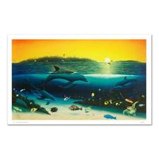 """Wyland """"Warm Tropical Waters"""" Signed Canvas Limited Edition Art; COA"""