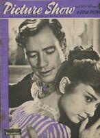 Picture Show & Film Pictorial  Dec 1,1956 Audrey Hepburn Mel Ferrer