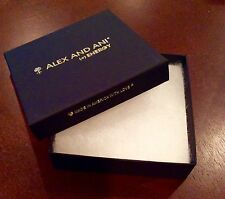 BRAND NEW ALEX & ANI (+)ENERGY JEWELRY SQUARE BLACK BRACELET ORIGINAL GIFT BOX