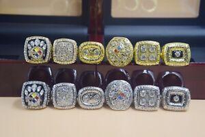 1974 1975 1978 1979 2005 2008 Pittsburgh Steelers World Championship Ring --!-