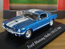 ATLAS EDITIONS FORD MUSTANG SHELBY 350 GT 1966 BLUE CAR MODEL HM09 1:43