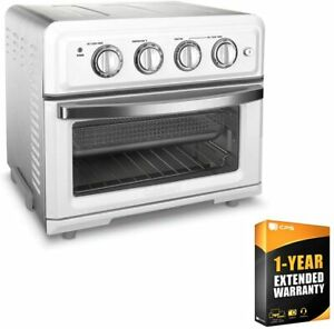 Cuisinart TOA-60W Convection Toaster Oven Air Fryer with Light White Bundle