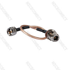UHF PL259 male to N Type Jack female RF Pigtail cable RG316 connector adapter