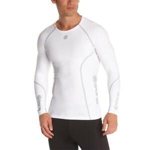 Skins A200 manica lunga compressione top camicia funzionale fitness sportiva