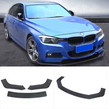 3x Front Bumper Lip Spoiler Protector Body Kit ABS Carbon Fiber Style Universal