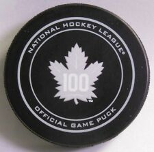 TORONTO MAPLE LEAFS 100 YEARS NHL OFFICIAL GAME PUCK 9900424