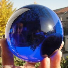 100mm + Stand huge Rare Natural Quartz Blue Magic Crystal Healing Ball Sphere