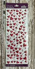 113 Valentine's Day heart puffy stickers planner supply cards paper crafting DIY