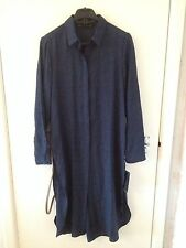 Zara Collar Long Sleeve Dresses Midi
