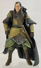 """Lord Of The Rings Fellowship Elrond Elven Sword Attack Armor 7"""" Figure Complete"""