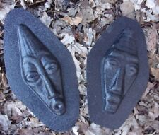 Tiki molds set of 2 molds plaster concrete casting moulds