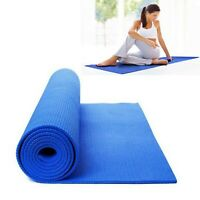 Yoga Mat THICK 6mm 173cm x 61cm Non Slip Exercise/Gym/Camping/Picnic BLUE