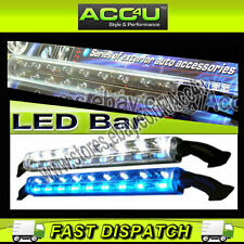 Automóvil 12v Intermitente Azul Blanco Super Brillante Thunderbolt Luz Led único Tubo Bar