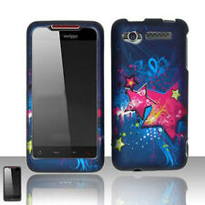 For Verizon HTC Merge ADR6325 Hard Protector Case Snap on Phone Cover Blue Star