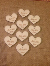 Jam Jar Gift Tags to suit all size Jars x 10 Wooden Hearts
