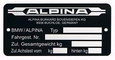 Plaque constructeur BMW ALPINA - BMW ALPINA vin plate - BMW ALPINA typenschild