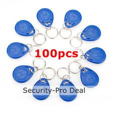 100pcs 125KHz RFID Keyfobs EM4100 TK4100 Proximity ID keyfobs for Access Control