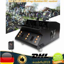 3in1 3000W DMX Nebelmaschine RGB LED Rauch Fog Bubble Maschine Fernbedienung DE