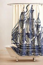 NWT Anthropologie  Elizabethan Sails Shower Curtain Cotton Canvas SOLD  OUT