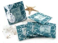 Tropical Breeze Palm Tree Glass Coasters Bridal Shower Wedding Favors 4-pk