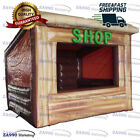 13x13ft Inflatable Cabin Shop Concession Stand Booth Tent With Air Blower