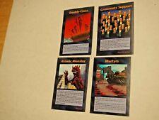 INWO Error cards - 4 card lot -square corners-  Illuminati TCG