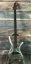 Used Ibanez Ergodyne EDC 900 Electric Bass with Gig Bag- Matte Silver